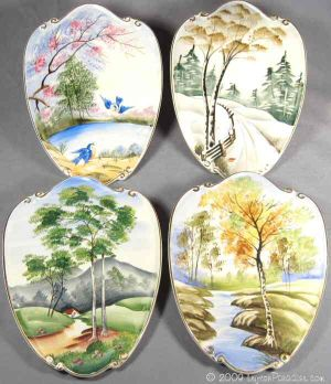 Four Seasons Wall Plaques Set - 4927