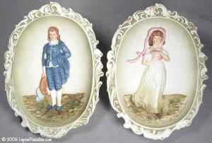The Blue Boy and Pinkie Wall Plaques - 3504
