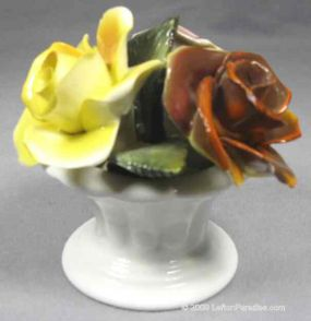 Bone China Vase with Roses