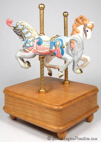 Carousel Horse Figurines on a Music Box -7904