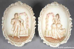 Courtly Dancers Wall Plaques -6967
