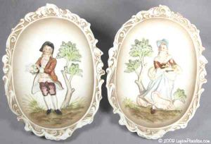 Colonial Couple Wall Plaques -4768