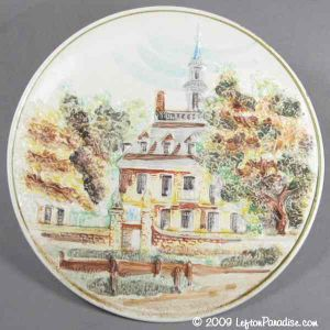 Colonial House Plate - 015