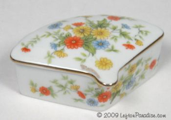 Fan-Shaped Trinket Box with Violets - 1952