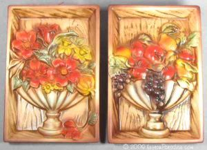 Fruit and Flowers Wall Plaque Set - 483