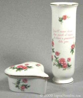 Special Grandmother Vase and Heart Box - 2692