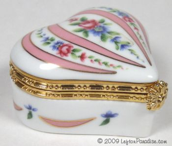 Trinket Box, Small with Roses - 11159