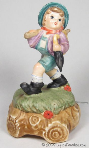 Hiking Boy Musical Figurine - 2399