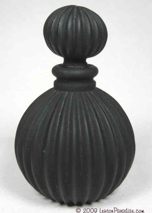 Black Satin Molded Glass Perfume Bottle