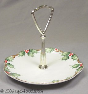 Holly Garland Single Tidbit Dish, NE2094 - Lefton