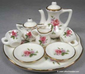 Miniature Tea Set, Rose - 10654