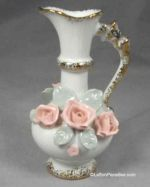 Mini Pitcher Vase with Applied Roses!