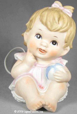 Baby Girl with Ball Nightlight - 00046