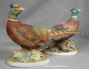 Pair of Pheasant Figurines - KW769