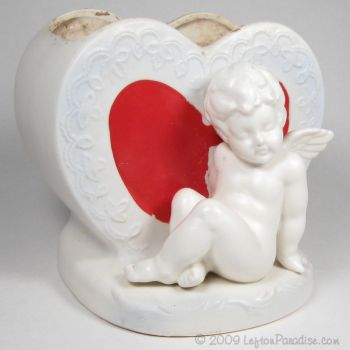 Planter, Hearts with Cherub - 2822
